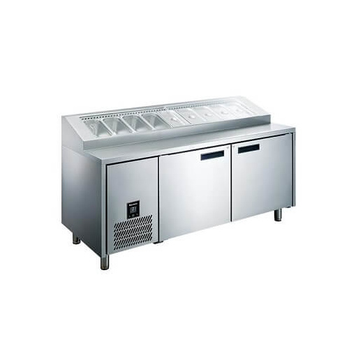 Glacian HPB1815 - 2 Door Pizza Prep Fridge