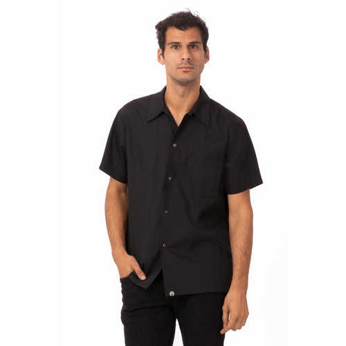 Chef Works Black Utility Cook Shirt  - KCBL