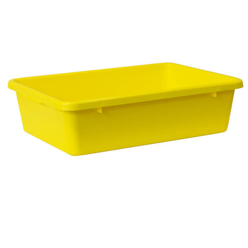 Crate 22.5lt Food Safe - Yellow