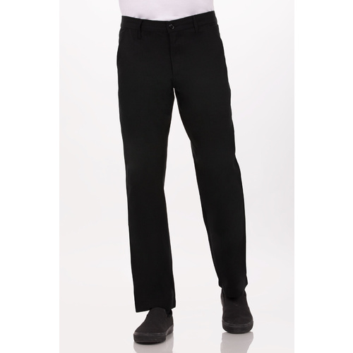 Black Constructed Chef Pants
