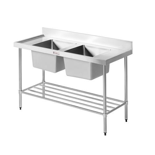 Simply Stainless Double Sink Bench 700 Series